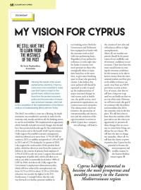 Το άρθρο μου στο τεύχος Ιουλίου του Accountancy Cyprus του ΣΕΛΚ, με τίτλο, My vision for Cyprus