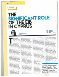 The significant role of EIB in Cyprus